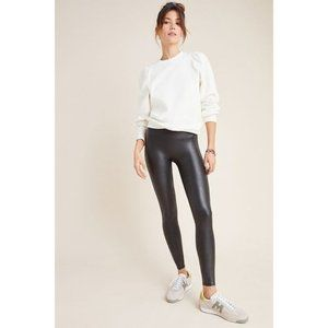 NEW Spanx Faux-Leather High Rise Leggings in Black